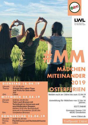"""LWL-Projekt """"#Mädchenmiteinander"""" mit letzten Angeboten in den Osterferie"""