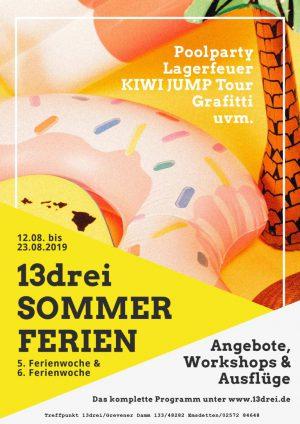 13drei Sommerferien-Programm